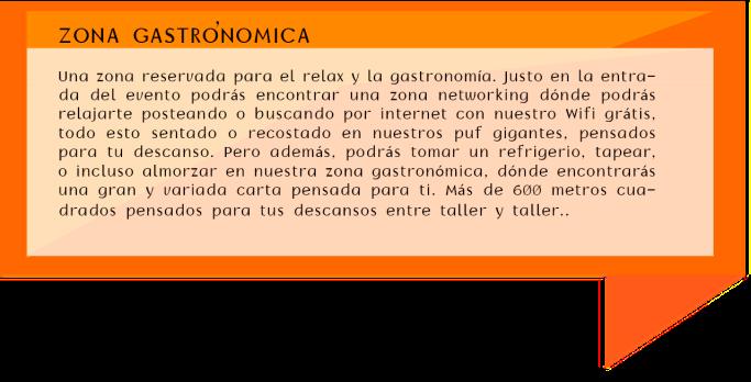 CUADROS DE TEXTO ZONA GASTRONOMICA